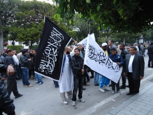Protestors in Tunisia during the Arab Spring. Photograph: V. Matthies-Boon