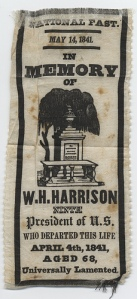 A small banner calling for a national day of fasting to mourn President Harrison. Fasts have historically been important parts of communal and political life.