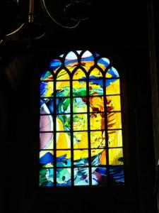 Annemieke Punt's leadlight in the New Church in Delft (picture E. Tabak)