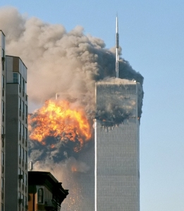 An iconic image from the 11 September 2001 that sparked much of the renewed interest in the links between religion and terrorism. Source: WIkimedia commons