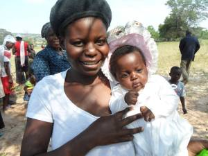 A mother and her baby at one of the health clinics in Lupane ADP, Zimbabwe. Photo: Brenda Bartelink