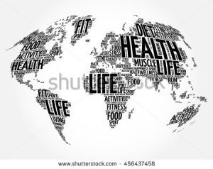 stock-vector-health-and-life-world-map-in-typography-sport-health-fitness-word-cloud-concept-456437458