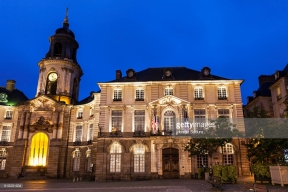 Rennes City Hall on Place de la Mairie . Rennes, Brittany, France